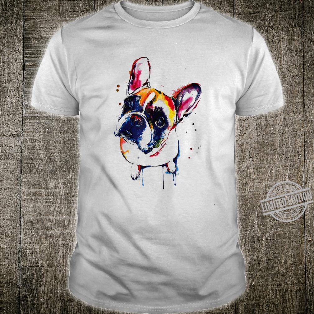 Funny Colorful French Bulldog, Pet Dog Love Dad Mom Shirt