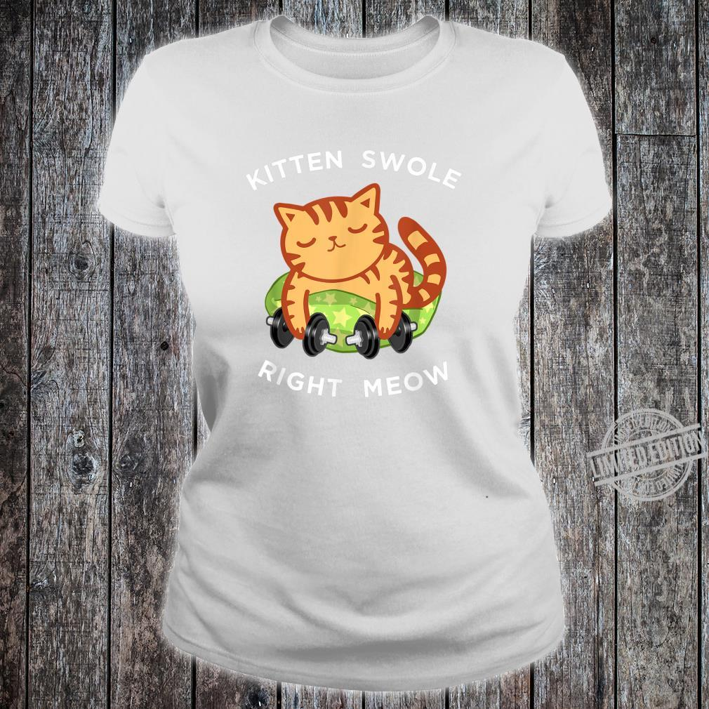 Funny Lifting Right Meow Cat Shirt, Workout Gym Kitty Shirt ladies tee