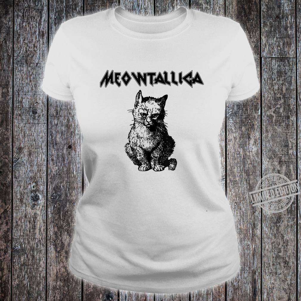 Funny Meowtallica shirt Kitty Kittens Meow Cute Cat Shirt ladies tee