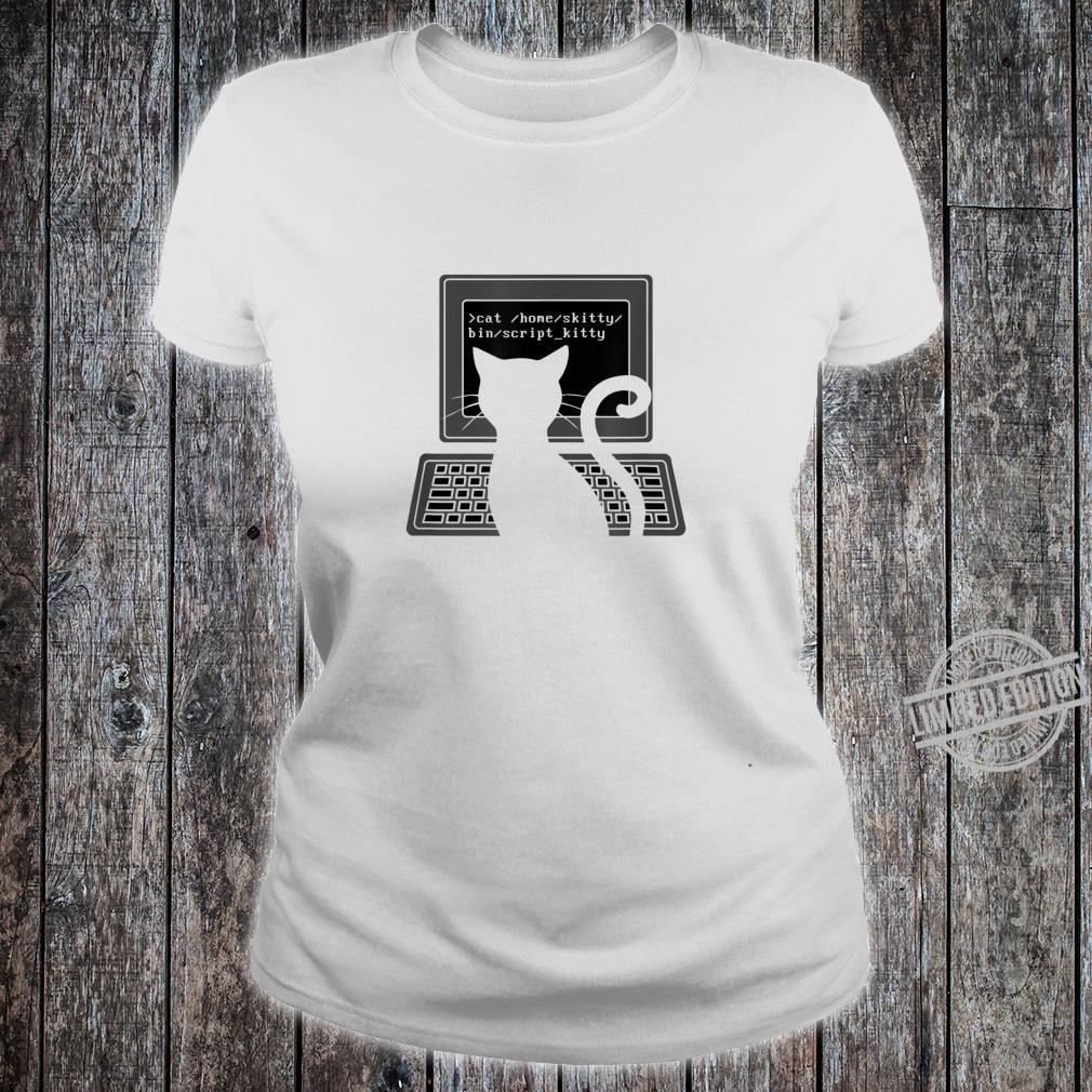 Funny nerd cat script kitty programming skills cat idea Shirt ladies tee
